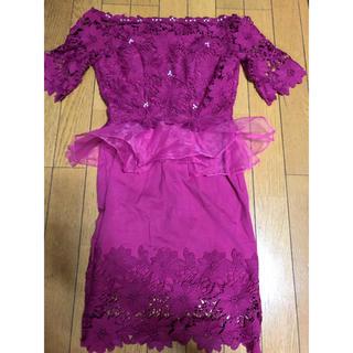 デイジーストア(dazzy store)のbayb-b club ピンク ペプラム ドレス(ミディアムドレス)