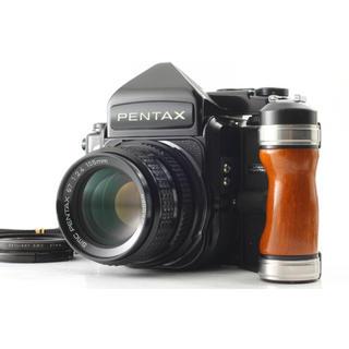ペンタックス(PENTAX)の超美品 PENTAX 67 TTL SMC 105mm f2.4 木製グリップ付(フィルムカメラ)