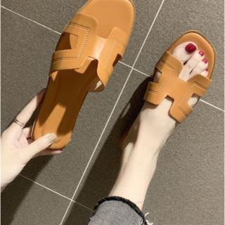 ZARA - 英文字 フラットサンダル♡24.5cm