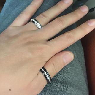 スワロ1連巻きサージカルテンレス製リング指輪