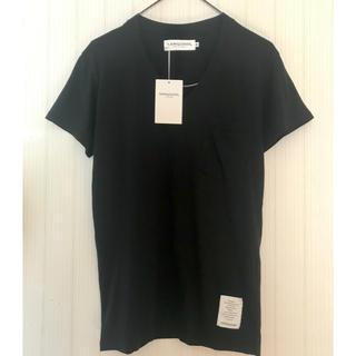 ヴァンキッシュ(VANQUISH)の新品!VANQUISH 黒 Tシャツ 胸ポケット Vネック 無地 シンプル(Tシャツ(半袖/袖なし))