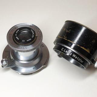 LEICA - Elmar 50mm f3.5 戦前製 純正フード付き
