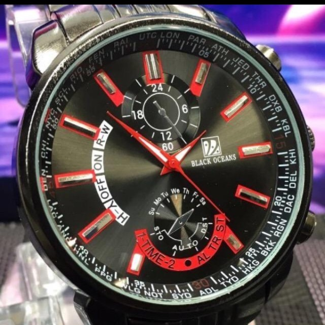 ブラックオーシャン/クォーツ/腕時計の通販 by VAMP DESTINY's shop|ラクマ
