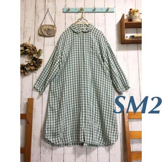 SM2 - *SM2 サマンサモスモス ブロックチェック 丸襟 ゆったりシャツワンピ