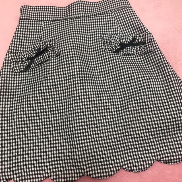 Ank Rouge(アンクルージュ)のアンクルージュ スカート ギンガム レディースのスカート(ミニスカート)の商品写真