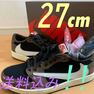 NIKE - NIKE Air Jordan 1 Low Travis Scott 27cm