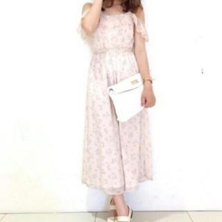マーキュリーデュオ(MERCURYDUO)のMERCURYDUO  ロンパース♡花柄ピンク  フリーサイズ(オールインワン)