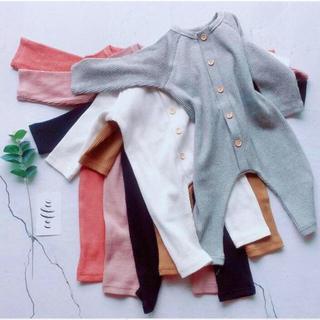 babyGAP - 新品  ロンパース ジャンプスーツ リブロンパース 長袖  新生児  韓国子供服