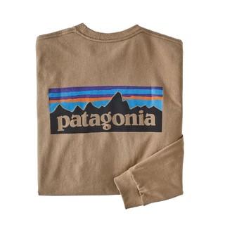 patagonia - XSサイズ パタゴニア ロングスリーブ P6ロゴ レスポンシビリティー ベージュ