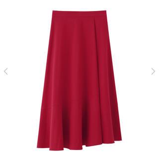 ルシェルブルー(LE CIEL BLEU)のBLENHEIM チノストレッチアシンメトリースカート XS(ロングスカート)