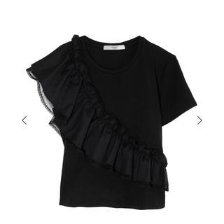 eimy istoire - eimy istoire♡フリルドッキングTシャツ     ブラック