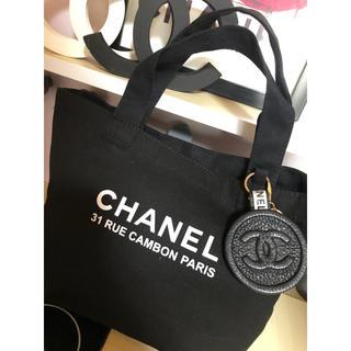 CHANEL - CHANEL トートバッグ キャンバス トート 黒 シャネル トートバック