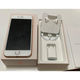 iPhone - simフリー【美品】iPhone8 gold 64gb 値下げ!