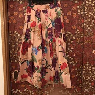 ZARA - 【ZARA】花柄タッグスカート Sサイズ