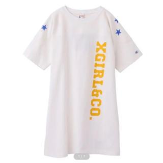 X-girl - X-GIRL Champion コラボ Tシャツ Tワンピ