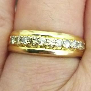 K18天然ダイヤリング(リング(指輪))