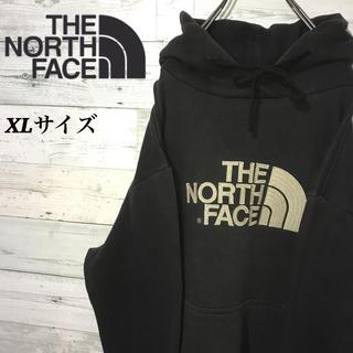 THE NORTH FACE - 【レア】ザノースフェイス☆刺繍ビッグロゴ ハーフドーム ビッグサイズ パーカー
