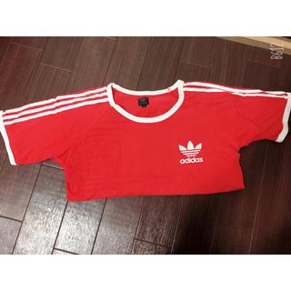 adidas - adidas ラインTシャツ