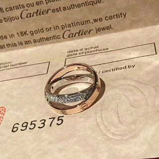Cartier - #JP14、レディース指輪 Cartier ローズゴールド&ホワイトゴールド
