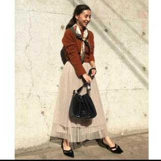 アメリヴィンテージ(Ameri VINTAGE)のAmeri 【新品】プリーツ チュール スカート(ロングスカート)