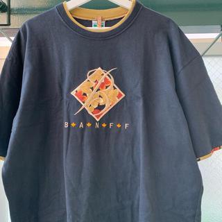 ART VINTAGE - 90s 古着 刺繍Tシャツ 半袖 紅葉柄 XL オーバーサイズ ビッグシルエット