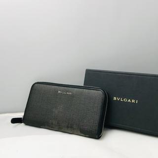 BVLGARI - ☆特別価格☆ BVLGARI ブルガリ ラウンドファスナー 長財布