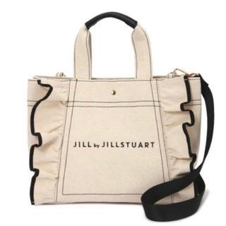 JILL by JILLSTUART - ジルバイジルスチュアート フリルキャンバストートバッグ