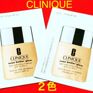 CLINIQUE - 2色入り新品💫CLINIQUE クリニーク♡イーブンベター グロウメークアップ