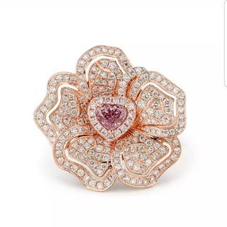 GIA♡Fancy Purple Pinkダイヤモンドリング(リング(指輪))