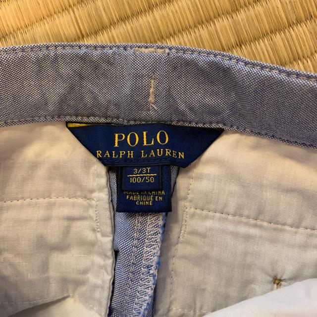 POLO RALPH LAUREN(ポロラルフローレン)の美品  ラルフローレン 100cm 短パン キッズ/ベビー/マタニティのキッズ服 男の子用(90cm~)(ドレス/フォーマル)の商品写真