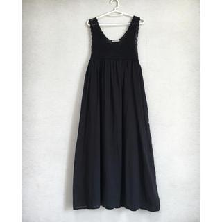 SM2 - SM2 コットンかぎ編みワンピース ブラック