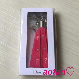 ディオール(Dior)のディオール Dior キーホルダー チャーム 限定 レア リボン 新品!(キーホルダー)