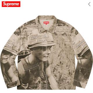 Supreme - Supreme Is Love Denim Work Jacket TAN