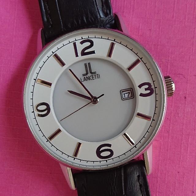 LANSETTI ソーラー メンズ腕時計の通販 by islay 's shop|ラクマ
