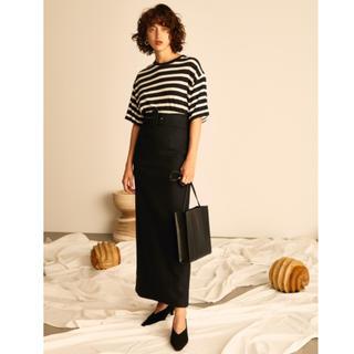 ミラオーウェン(Mila Owen)のベルト付きタイトスカート(ロングスカート)