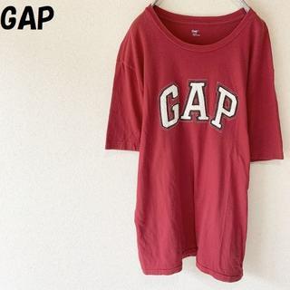 GAP - 【人気】GAP/ギャップ ロゴTシャツ 半袖 レッド サイズL