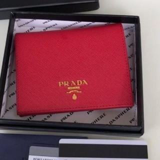 PRADA - プラダ折り財布 赤