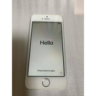 iPhone - iPhone SE Silver 32 GB UQ SIMロック解除済み