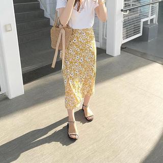 dholic - 花柄巻きスカート