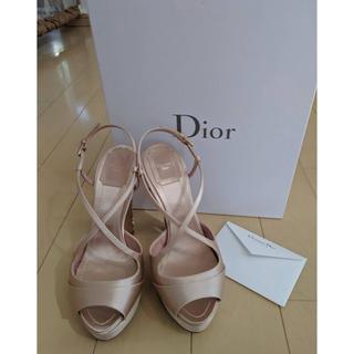 ディオール(Dior)のDior サンダル ベージュ 22.5(サンダル)