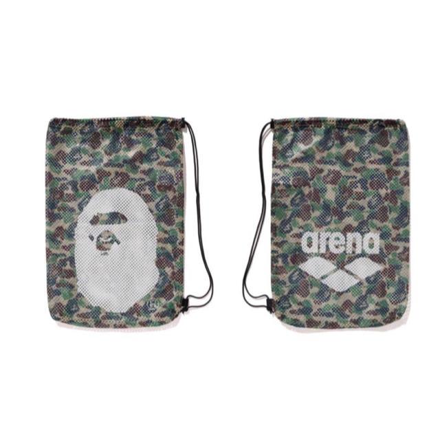 A BATHING APE(アベイシングエイプ)のA BATHING APE×arena  メッシュバッグ メンズのバッグ(バッグパック/リュック)の商品写真