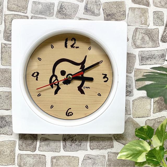 【名入れ・送料無料】木目調 Wall clock (インコ) 時計 壁掛け時計 インテリア/住まい/日用品のインテリア小物(掛時計/柱時計)の商品写真