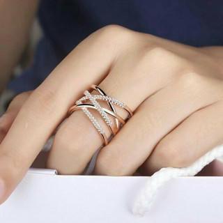 人気 シルバー925 18金 ティファニー好きにfaデザイン リング k18 (リング(指輪))