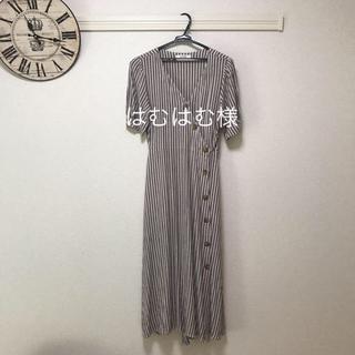 moussy - moussy ワンピース DIAGONAL BUTTON DRESS