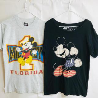 Disney -  USA製オールド ミッキー フロリダTシャツ&おまけJOYRICHIミッキーT