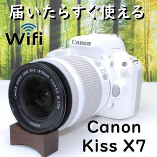 Canon - 【珍しい海外ロゴ】一度手にしたら手放せない!キャノン Kiss X7♪
