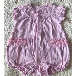 アナスイミニ(ANNA SUI mini)のAnna Sui mini アナスイミニ ロンパース ピンク 双子(ロンパース)