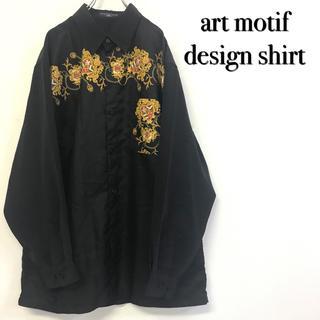 美品 モード系古着 アートモチーフ デザインシャツ(シャツ)