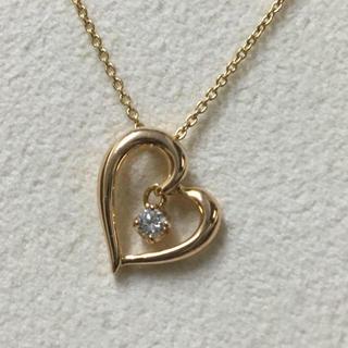 4℃ - 4℃ 4ドシー K18 ハートモチーフ ダイヤモンド ネックレス