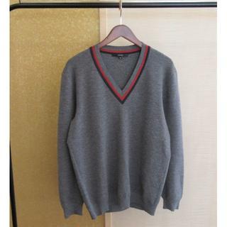 グッチ(Gucci)のGUCCI グッチ シェリーライン ロゴ刺繍 ニット セーター メンズ(ニット/セーター)
